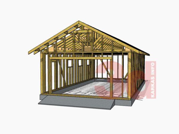 3d модель каркасного гаража Софрино 66