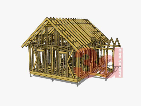 3d модель каркасного дома Дарина 67