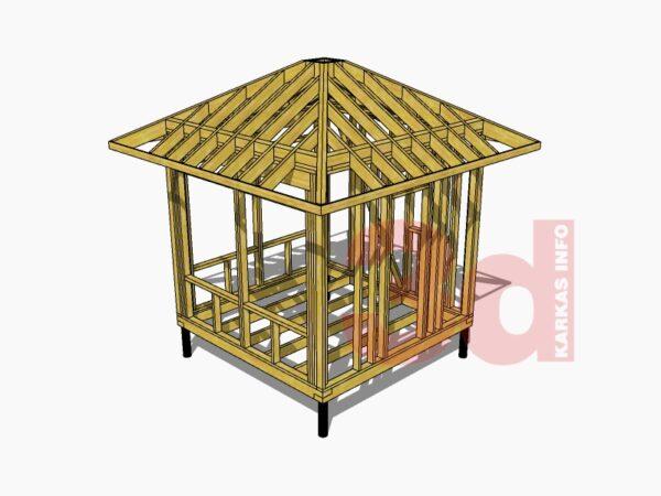 3d модель садовой беседки Самма 8