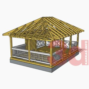 3d модель садово беседки Гостевая 3