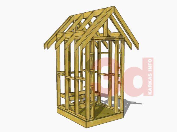3d модель садового дачного туалета