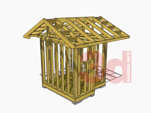 3d модель садового душа-туалета