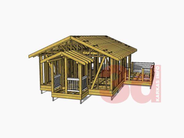3d модель каркасного дома Алабама 47
