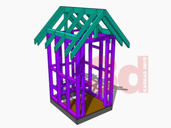 Слои модели садового дачного туалета