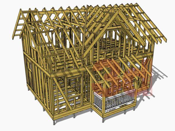 Стропильная система каркасного дома Линка 89