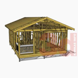 3d модель каркасного дома Приозерье 42