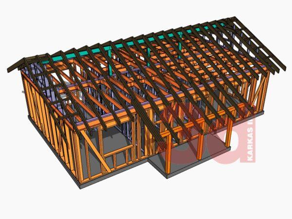 Слои модели каркасного дома Айова 69