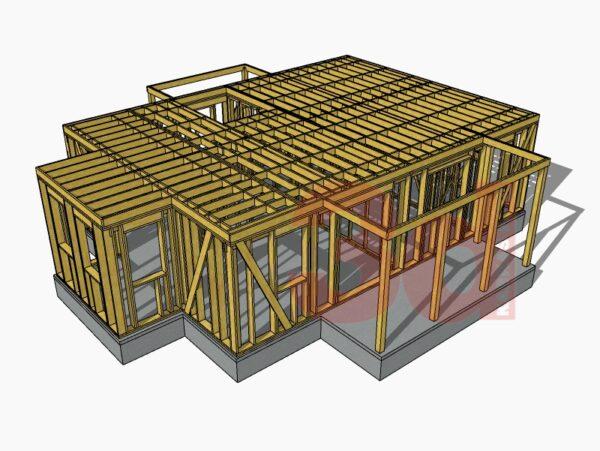 Межэтажное перекрытие каркасного дома Улвила 156