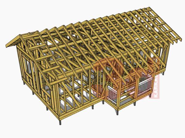 3d модель каркасного дома Дарина 2