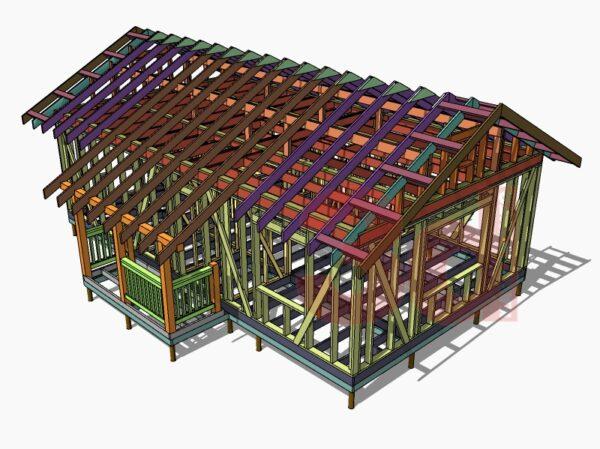 Слои модели каркасного дома Дарина 2